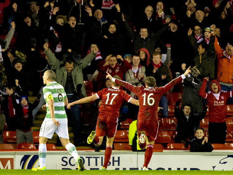 Aberdeen celebrate victory over Celtic