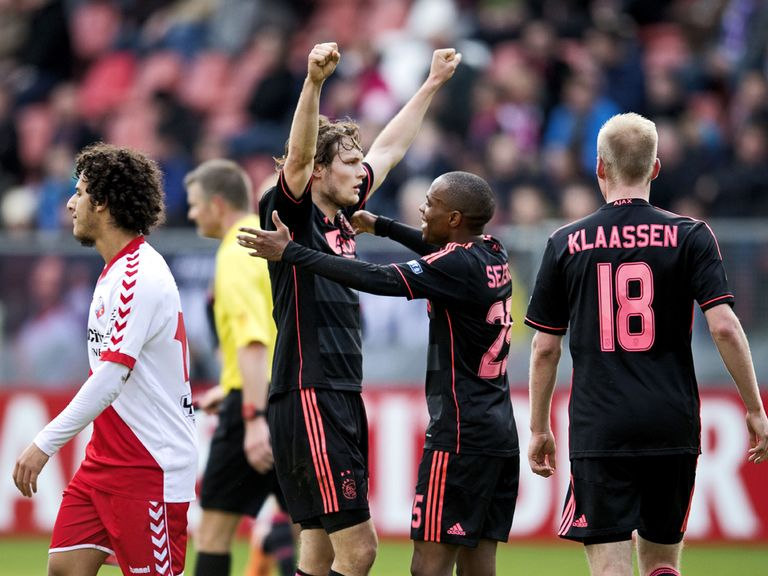 Daley Blind celebrates scoring for Ajax