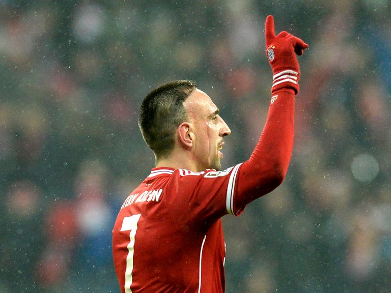 Franck Ribery: Will miss first leg against the Gunners