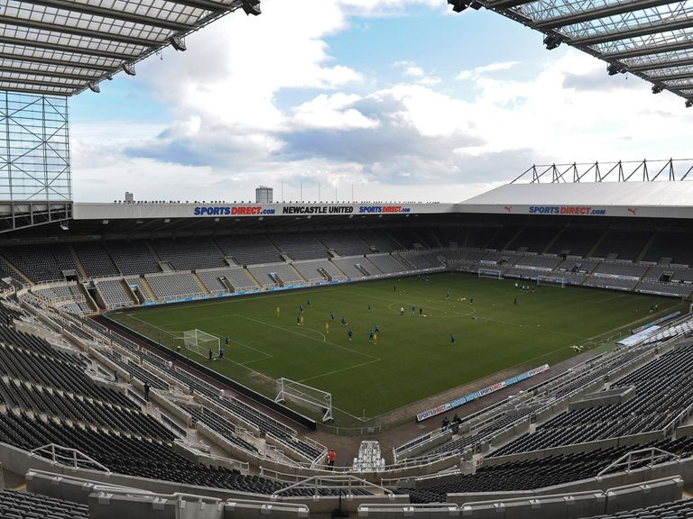 St James' Park: Will have a tribute to two fans who died in Malaysian air crash