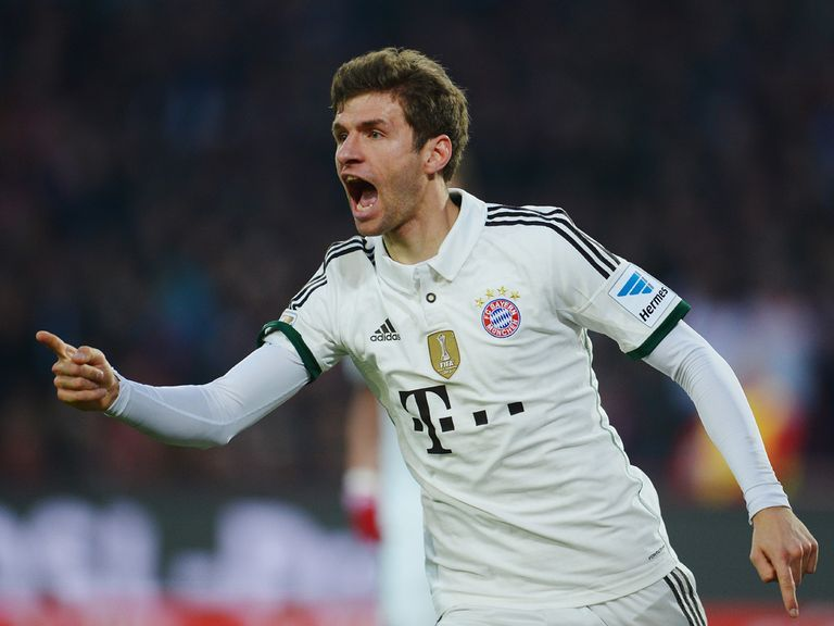 Thomas Muller bagged two goals for Bayern Munich