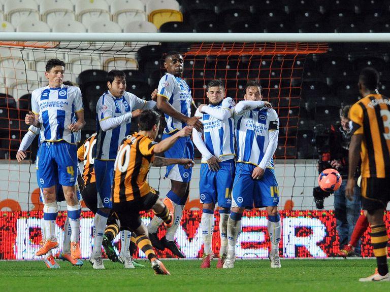 Robert Koren fires home Hull City's winning goal