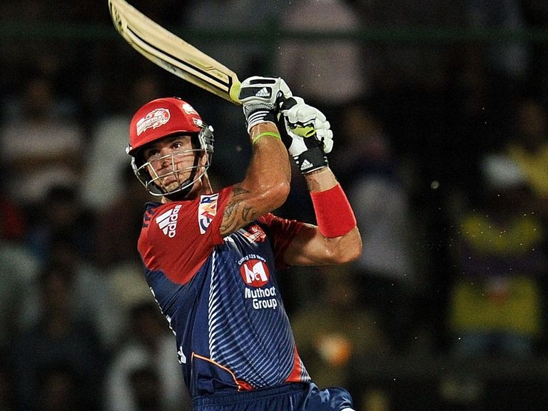 Pietersen, shown playing for Delhi in the IPL, could earn more than US$3million