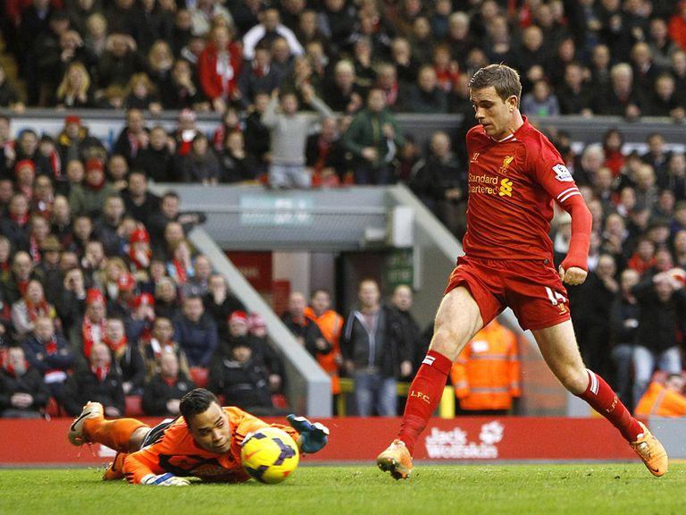 Jordan Henderson scored Liverpool's winner against Swansea