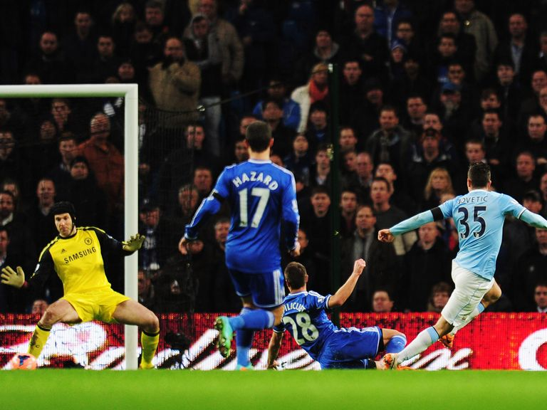 Manchester City knocked Chelsea out of the FA Cup