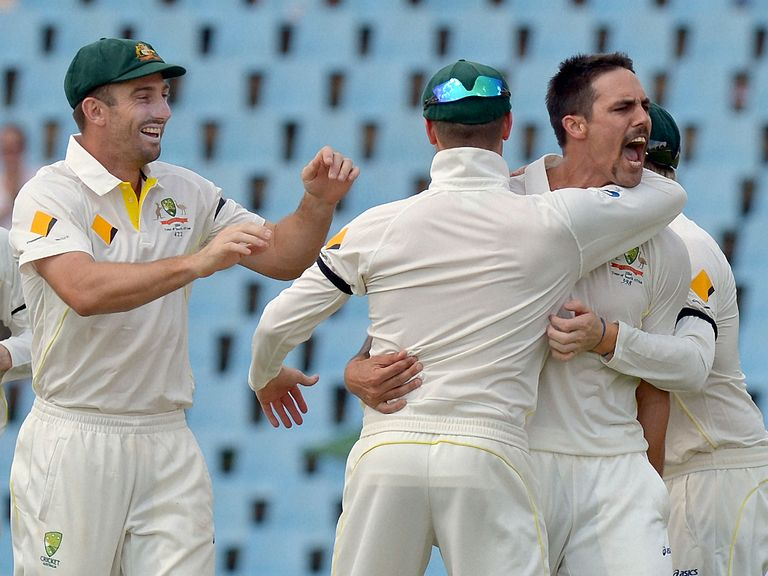 Johnson picked up four wickets on day two