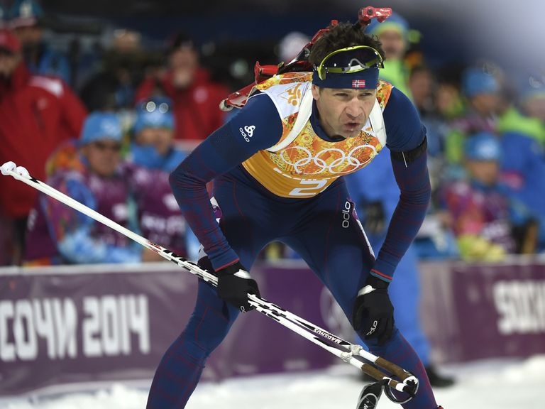 Ole Einar Bjoerndalen claimed his 13th gold medal