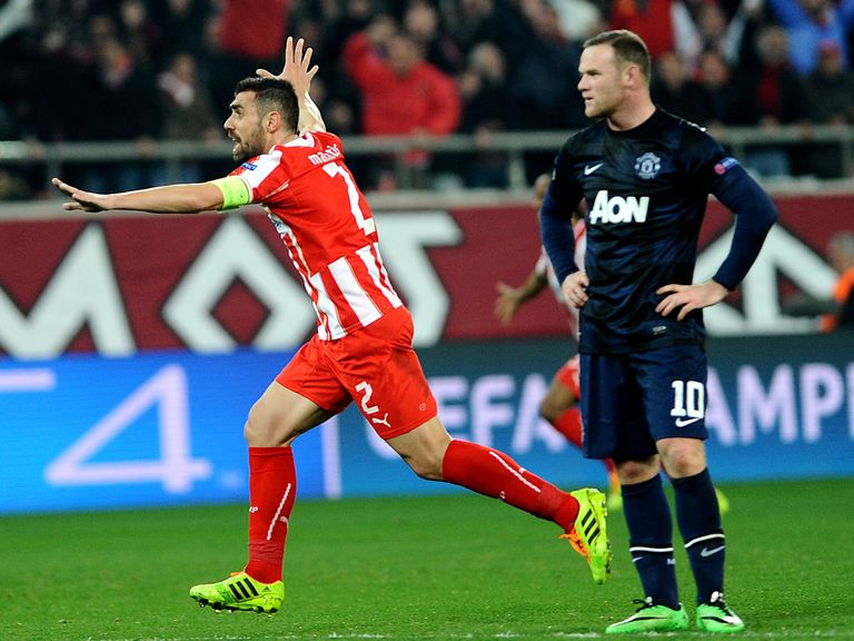 Manchester United lost 2-0 at Olympiacos
