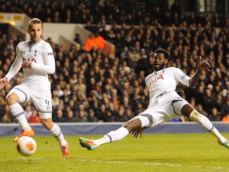 Emmanuel Adebayor was Tottenham's hero against Dnipro