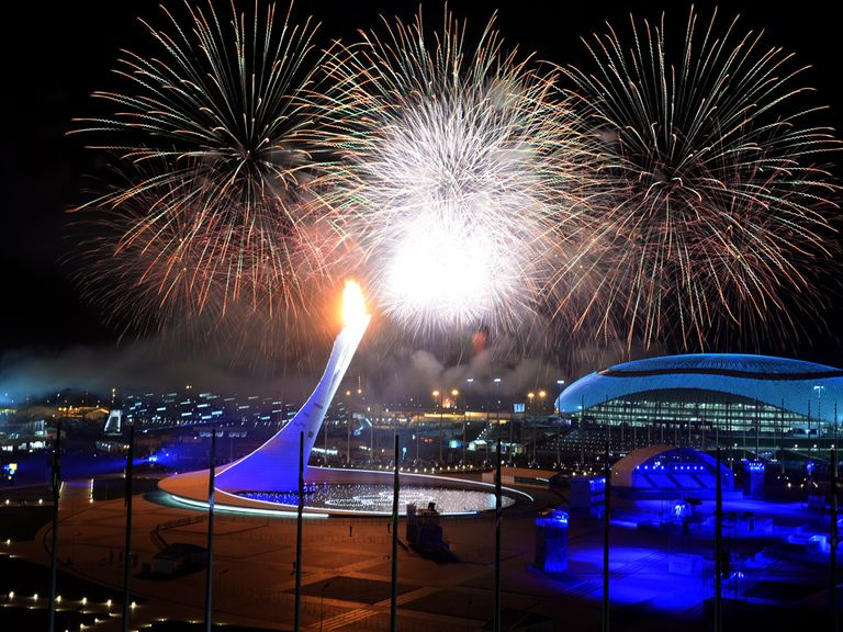 The Olympic flame is lit at Sochi 2014