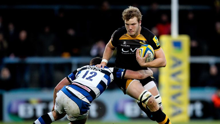 Joe Launchbury: England lock only makes the Wasps bench