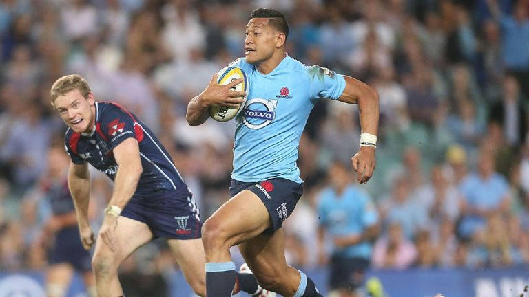 Israel Folau: Has scored eight tries in four Super Rugby games this season