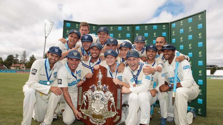 New South Wales: Celebrating their Sheffield Shield success