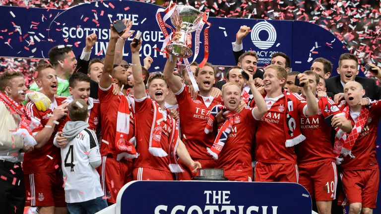 Aberdeen: Triumphed after a shoot-out at Celtic Park