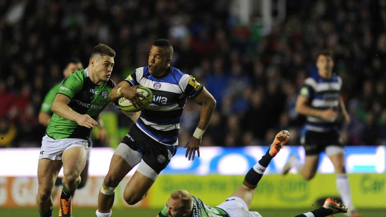 Bath's Anthony Watson on the charge