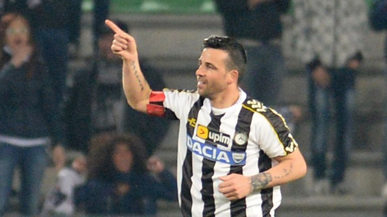 Antonio Di Natale celebrates his match-winner