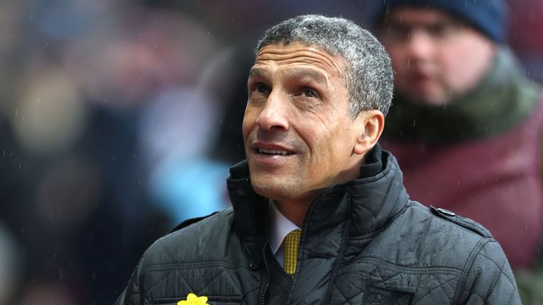 Chris Hughton: Saw Norwich overcome by Villa