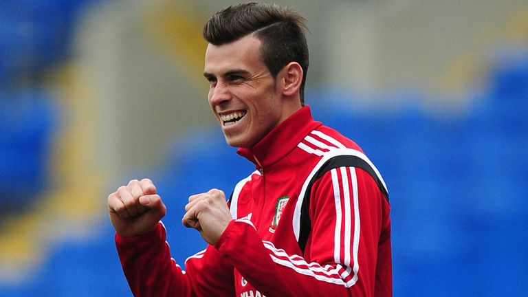 Gareth Bale: At Wales training session on Tuesday
