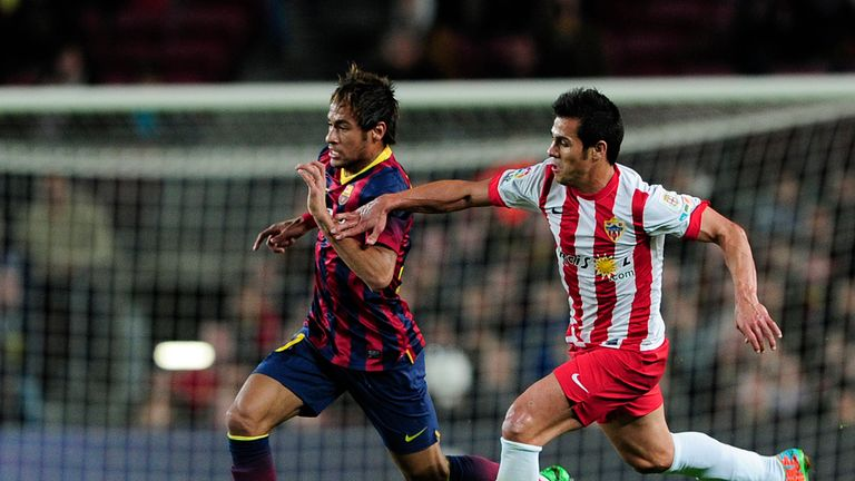 Neymar on the charge against Almeria