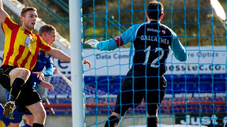 Billy Mckay: Taps the winner home