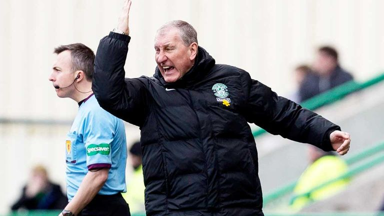 Terry Butcher: Hibernian boss was frustrated by the loss of a late goal