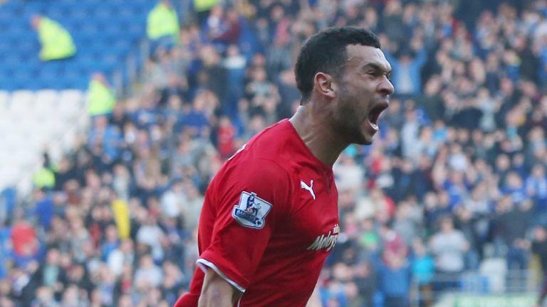 Steven Caulker: Celebrates his second for Cardiff