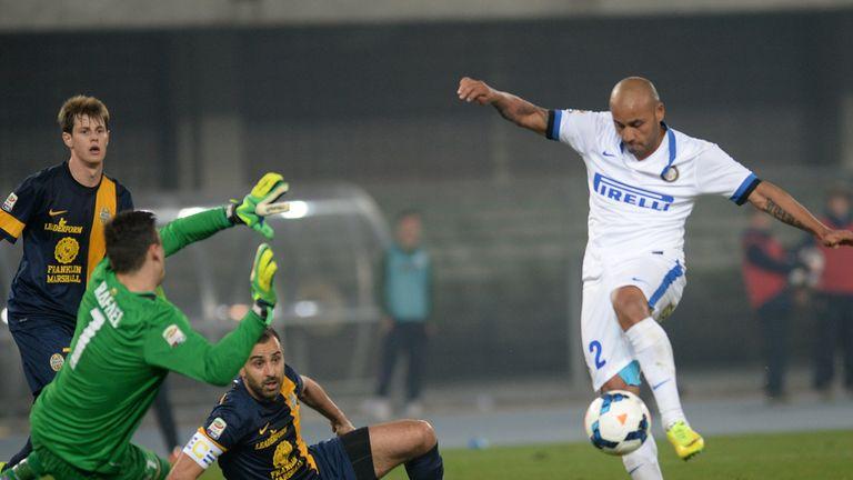Cicero Moreira Jonathan scores for Inter Milan
