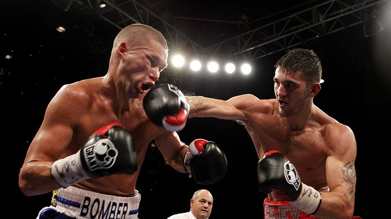 Nathan Cleverly in action with Tony Bellew
