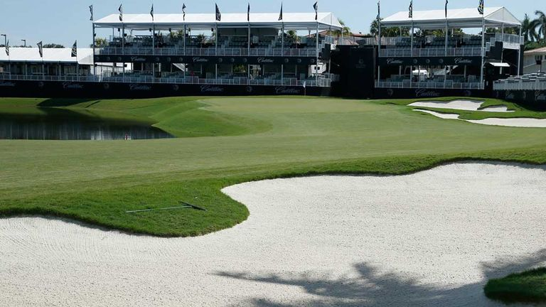 The 18th at Doral: Regarded as one of the toughest finishing holes in golf
