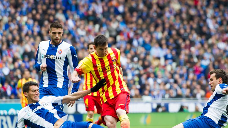 Lionel Messi earned victory for Barcelona in their derby
