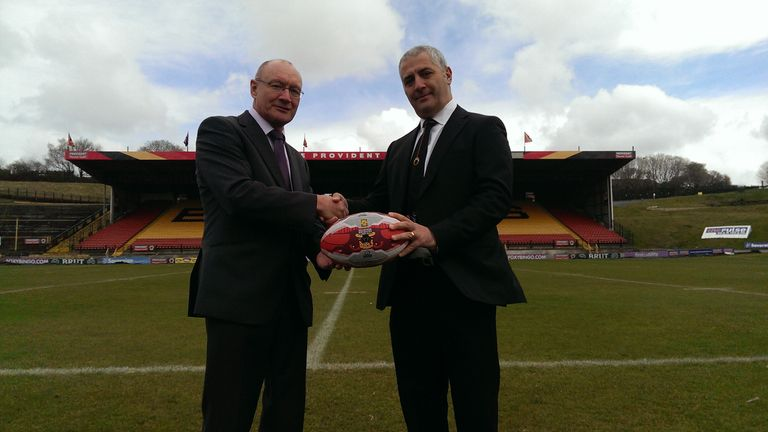 Bradford Bulls: starting new era under ownership of Marc Green (right)