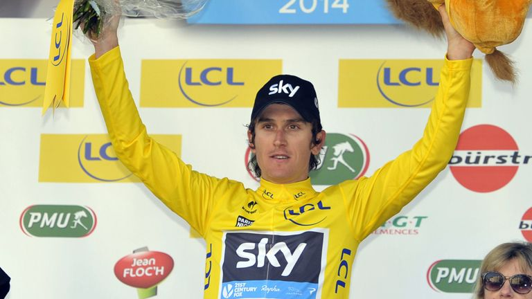 Geraint Thomas leads Paris-Nice by three seconds