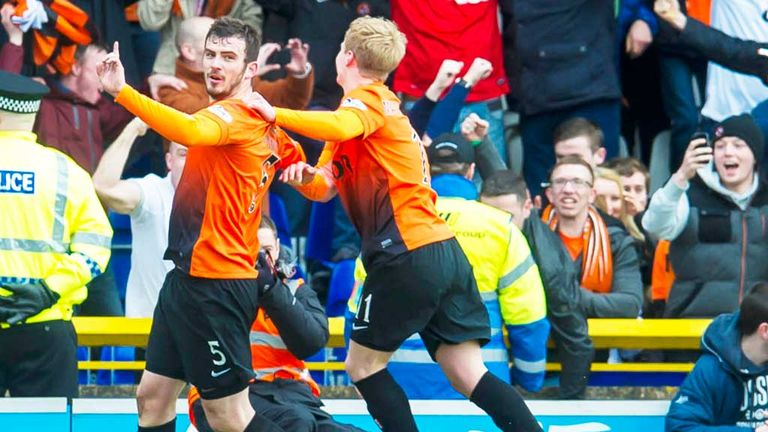 Gavin Gunning and Gary Mackay-Steven celebrate at Inverness