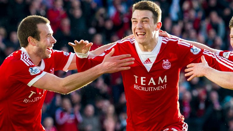 Ryan Jack celebrates Aberdeen's winner