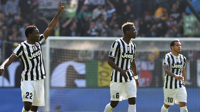 Kwadwo Asamoah celebrates the only goal.