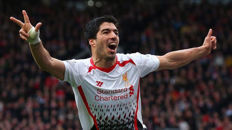 Luis Suarez: Was named as most managers' Player of the Season so far