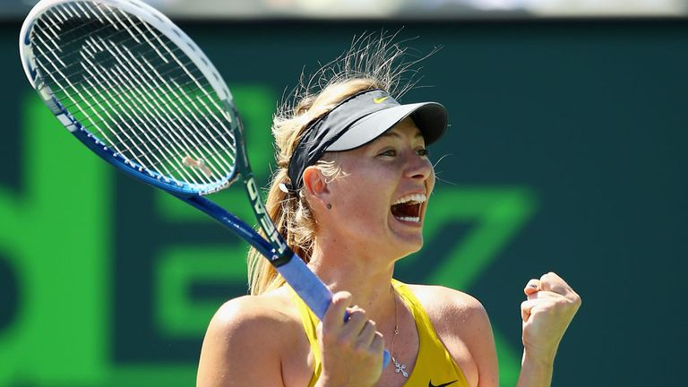 Maria Sharapova: Beat Petra Kvitova to reach the semis in Miami