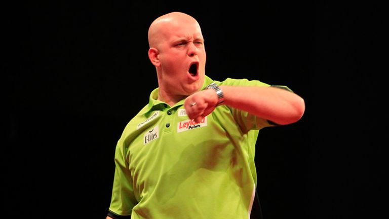 Michael van Gerwen: Defends his Dubai Darts Masters title