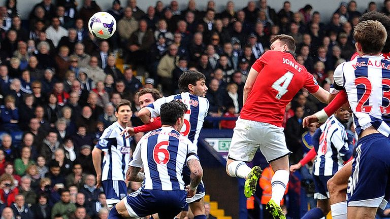 Phil Jones: Headed Man Utd's opening goal in the 3-0 win at West Brom