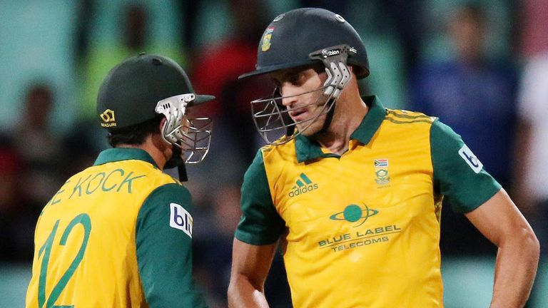 Faf du Plessis (R): Leads South Africa into an ICC event for the first time