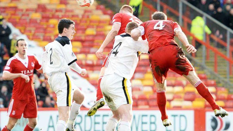 Adam Rooney: Aberdeen striker scores against Dumbarton at Pittodrie