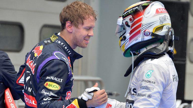 Head-to-head battle: Lewis Hamilton and Sebastian Vettel