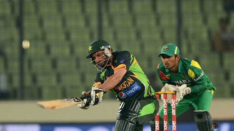 Shahid Afrid on the attack for Pakistan, who will host Australia in October