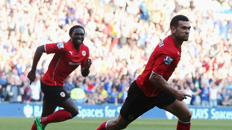 Caulker: Cardiff's two-goal hero celebrates finding the net