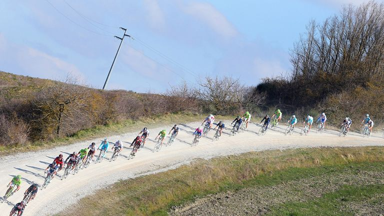 The incredible white roads characterise Strade Bianche
