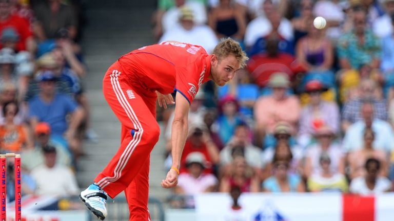 Stuart Broad: bowled two overs in warm-up game