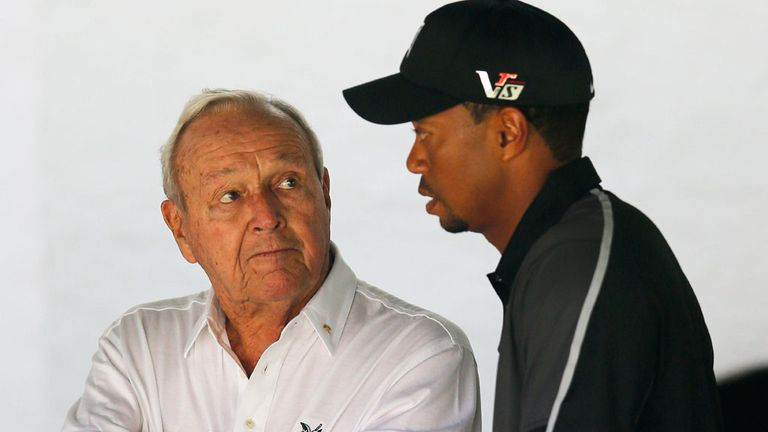 Arnold Palmer and Tiger Woods: World No 1 sidelined by back pain