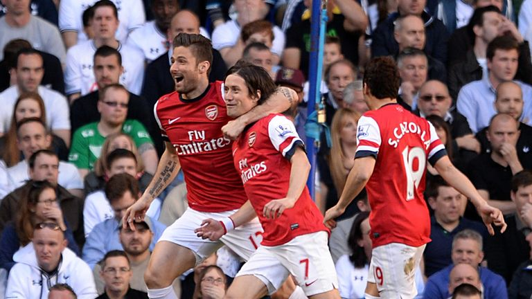 Tomas Rosicky: Arsenal midfielder will ignore their doubters in title race