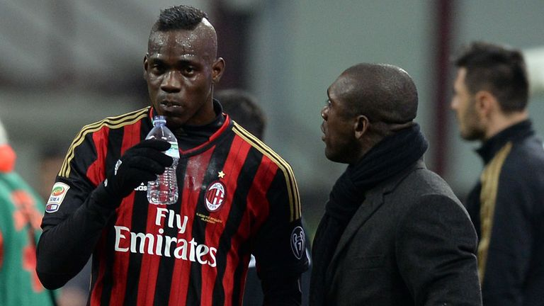 Clarence Seedorf: Rumours of a fall-out with Mario Balotelli