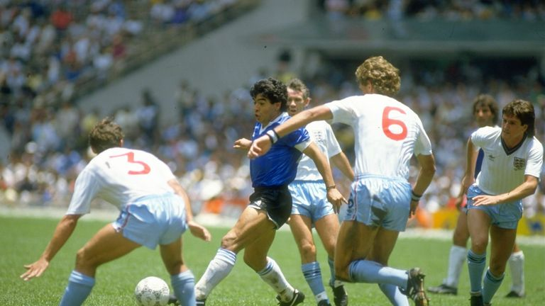 Argentina beat England in the quarter-finals on their way to glory in 1986